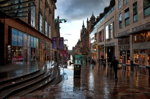 Glasgow in the rain 2015